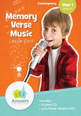 Memory Verse Music Leader Pack Year 1 (Units 1-5) Contemporary