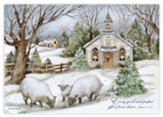 Grazing Morning Petite Christmas Cards, Box of 12