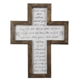 Don't Worry Framed Wall Cross