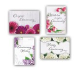 Fresh Floral Anniversary Cards, Box of 12