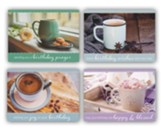 Coffee and Friends Birthday Cards, Box of 12