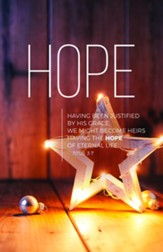 Lights of Advent Hope (Titus 3:7, NIV) Bulletins, 100