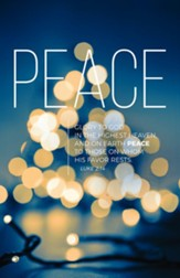 Lights of Advent Peace (Luke 2:14, NIV) Bulletins, 100