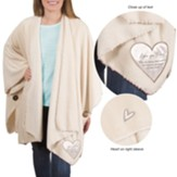 Love You Mom Plush Shawl