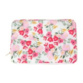 Lancaster Meadows, Pink Flowers, Canvas Laptop Sleeve