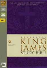 KJV Zondervan Study Bible, Bonded leather, Black