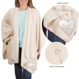 Love You Nana Plush Shawl