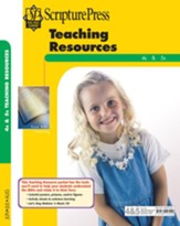 Scipture Press: 4s & 5s Teaching Resources, Summer 2018