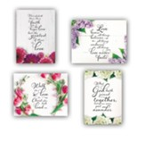 Fresh Floral Wedding Cards, Box of 12