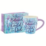 She Believed, 17oz. Cafe Mug With Gift Box