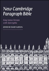 KJV New Cambridge Paragraph Bible with Apocrypha Personal Size, Calfskin, black - Imperfectly Imprinted Bibles