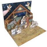 Pop-up Nativity Christmas Cards, Box of 8