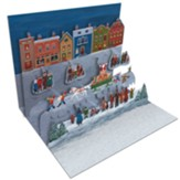 Folk Art Village, Pop Up Christmas Cards, Box of 8