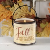 Fall Blessings Candle on Ceramic Crock