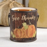 Give Thanks Ceramic Crock with Candle