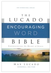 NIV Lucado Encouraging Word Bible, Comfort Print, Leathersoft, Blue, Indexed