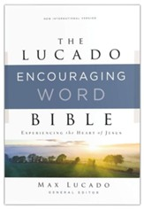 NIV Lucado Encouraging Word Bible, Comfort Print, Leathersoft, Brown