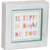 Be Happy Box Plaque