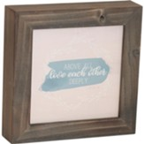 Above All Love Each Other Deeply Box Plaque