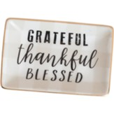 Grateful Thankful Blessed Trinket Tray