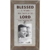 Blessed is the Man Photo Plaque