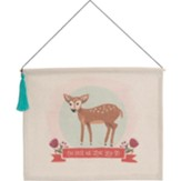 Oh Deer Hanging Banner with Tassel