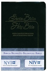 Biblia bilingue NVI/NIV, piel imit., negra  (NVI/NIV Bilingual Bible, Black Imit. Leather)