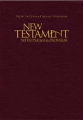 NIV New Testament with Psalms and Proverbs, Pocket-Sized,  Paperback, Burgundy