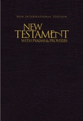 NIV New Testament with Psalms and Proverbs, Pocket-Sized,  Paperback, Black