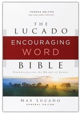 NKJV Lucado Encouraging Word Bible, Comfort Print, Leathersoft, Blue