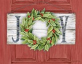 Joy, Wreath, Christmas Cards, Box of 18