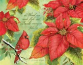 Grace, Poinsettia, Christmas Cards, Box of 18
