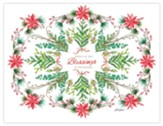 Blessings Christmas Cards, Box of 18