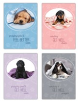 Puppy Love Children's Get Well Cards, Box of 12