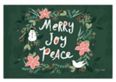 Merry Joy Peace Christmas Cards, Box of 12