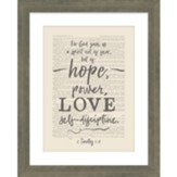 Hope Power Love Framed Art