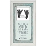 For This Child We Have Prayed Framed Art, Blue