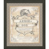 The Full Armor of God Framed Art, Black Frame
