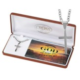With God all Things are Possible, Mens Cross Necklace
