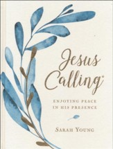 Jesus Calling, Cloth Botanical, Large Print (Cloth over Board) - Slightly Imperfect