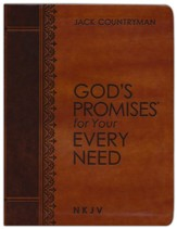 God's Promises for Your Every Need, Large-Print, NKJV--soft leather-look, brown