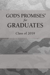 NIV God's Promises for Graduates: Class of 2019 Silver Camouflage
