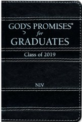 NIV God's Promises for Graduates: Class of 2019 Black