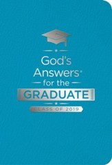 NKJV God's Answers for the Graduate: Class of 2019, Teal