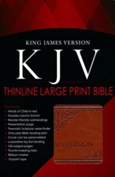 KJV Bible, Lux Leather, Large Print, Tan