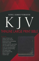 KJV Bible, Lux Leather, Large Print, Brown