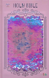 Sequin Sparkle and Change Bible, Pink