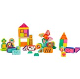 Wood and Knobs Farm Building Block Set, 80 pieces