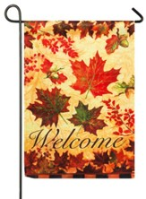 Fall Leaves Suede Reflections Flag, Small