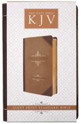 KJV Giant Print Bible. Luxleather brown